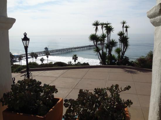 View of the San Clemente Pier from the garden