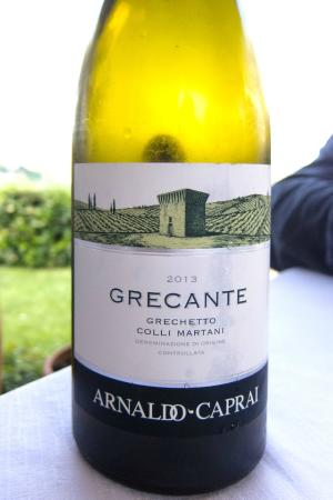 Ristorante Calagrana: Local White Wine from top grower