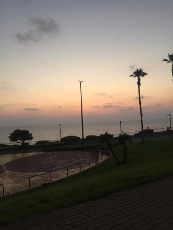 Ginot Yam Hotel: Вид из окна отеля! Здесь потрясающие закаты!!!
