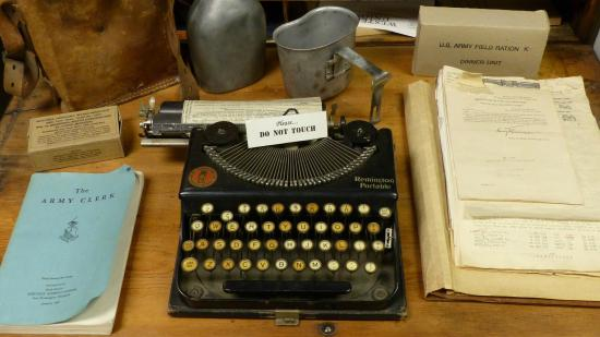 Camp Roberts Historical Museum: type up these orders - Yes sir! - Early word processor