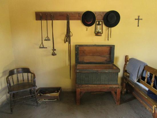 Rancho Los Cerritos: Foreman's spartan furnishings