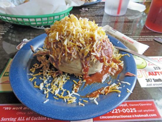 big tex bbq restaurant big tex bbq baked potato with pulled pork