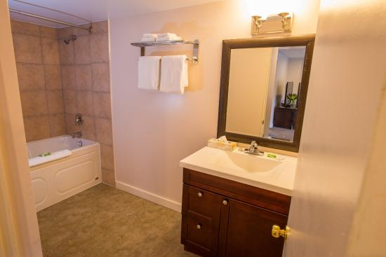 Villa Motel: One Bed Kitchenette Washroom