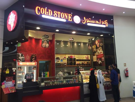 outer view picture of cold stone creamery doha. Black Bedroom Furniture Sets. Home Design Ideas