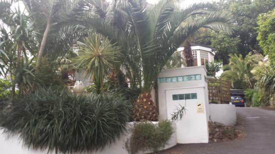 Cary Court Hotel: Gezaicht van de tuin vanaf de oprit.
