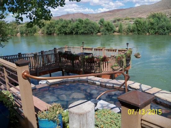 Riverbend Hot Springs: taken from Minnow Bath