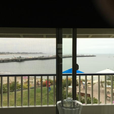 View from room 201 of the ocean