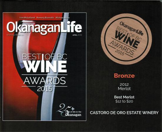 Castoro de Oro Estate Winery: 2015 Best of BC