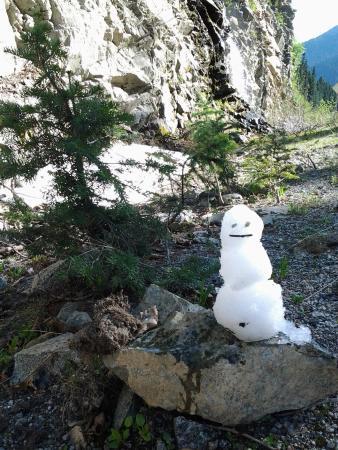 Cutthroat Lake: mein erster Schneemann im Juni !