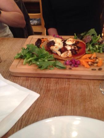 The Sky Apple: Quinoa pizza with goats cheese