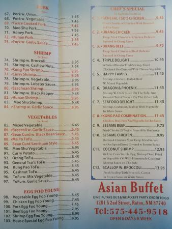 China Kitchen: Menu . Order to go or dine in.