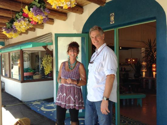Taos Tin Works: Marion and my husband