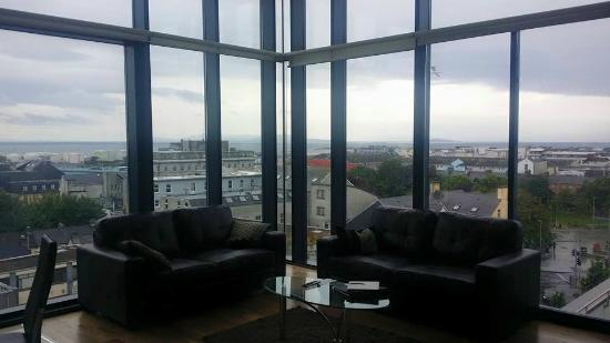 Western Citypoint Apartments: Living room views, apartment 7