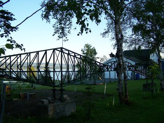Maquette du Pont de Québec, rue Hayward, Parc de la Pointe