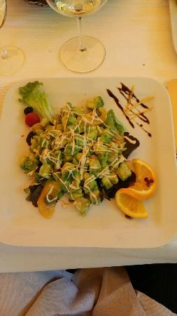 Aubergine: Delicately prepared lobster with Avocado on a citrus dressing
