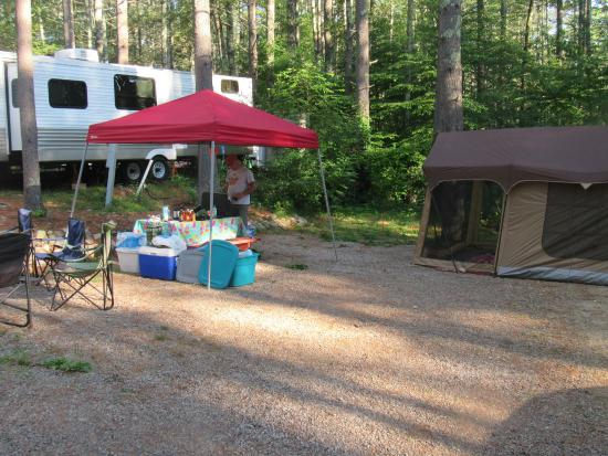 Whispering Pines Campground: another view of our site