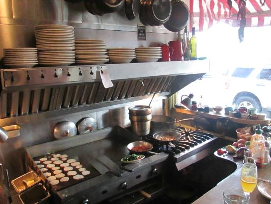 Columbian Cafe: The griddle