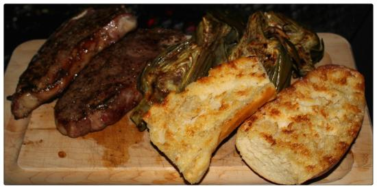 Palisade, CO: Grilled garlic bread, strip steaks and artichokes, come hungry!