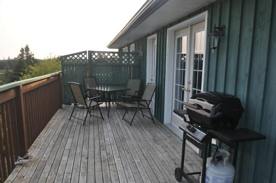 West Quoddy, Canada: Patio with 4-person table and bbq