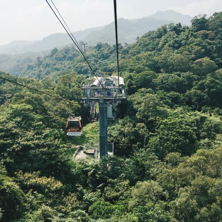 Maokong Gondola: View from the cabin