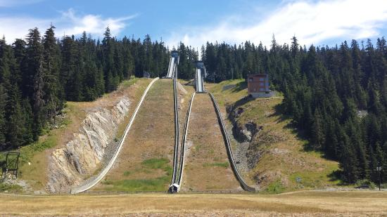Whistler Olympic Park: So steep...