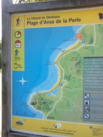 Deshaies, Guadeloupe: carte