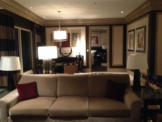 Bellagio Las Vegas: View 5ft In Front Of TV. Beginning With Couch, A