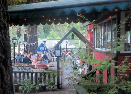 Patio Area, Tyrolean Inn Restaurant, Ben Lomond, CA