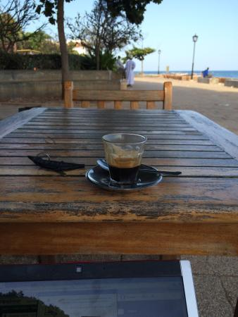 Cafe Foro: Having a glass of coffee