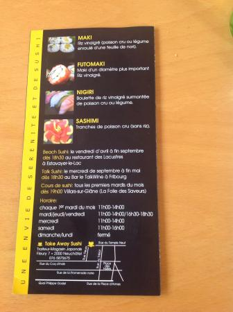 Superbe demi indigo menu d gustation photo de sushi for Table 6 north canton menu