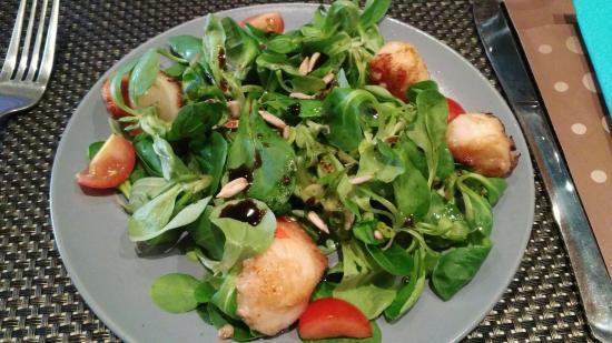 tr u00e8s belle carte  simple mais efficace  salade de saint jacques  salade tourangelle  burger to