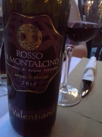 bar & food 62: The €20 Red wine Rosso di Montalcino was superb.