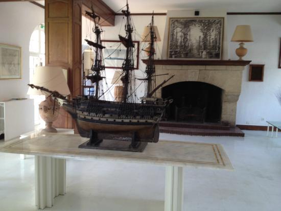 Auberge de la Calanque : The Reception room