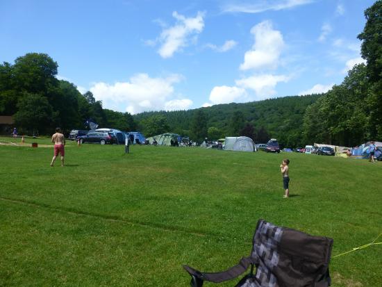 River Dart Country Park: Camping  & Caravan park