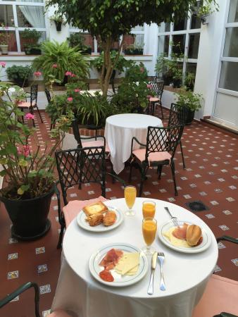 Hotel Los Olivos: Snídaně v zahradě