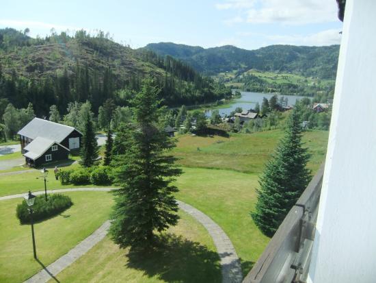 Morgedal, Noruega: Utsikt fra hotellrommet i 5. etg.