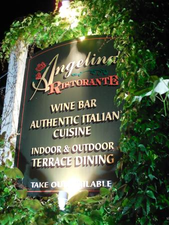 Angelina's Ristorante & Wine: The sign in front