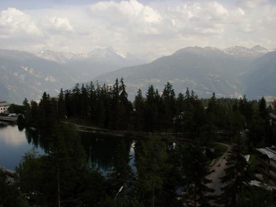 Crans-Montana Youth Hostel Bella Lui : View from my room