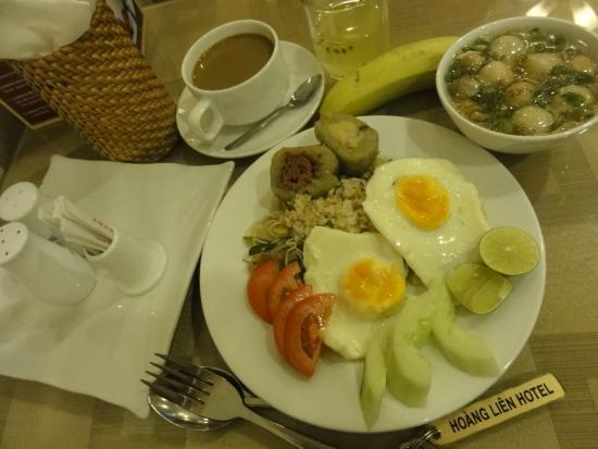 โรงแรมฮวงเลี่ยน: 朝食一例