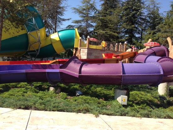 Albena, Bulgarien: kids slides