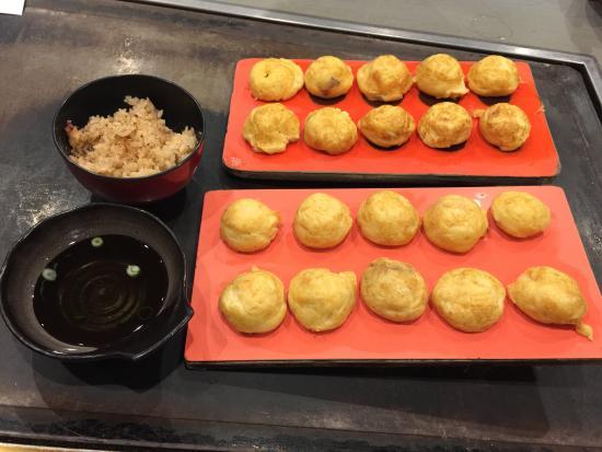 Yoshikawa: 明石焼き&たこ飯