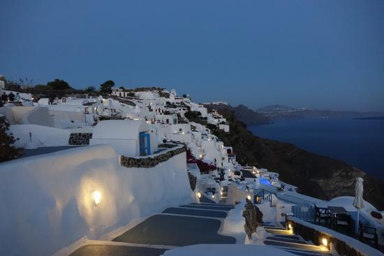 VIew of Oia from White House Villa