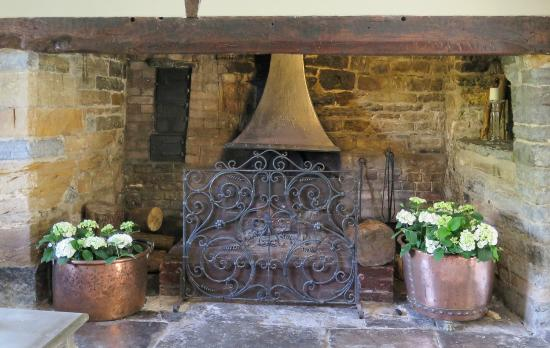 The Parsonage: Now that's what you call a fireplace!!