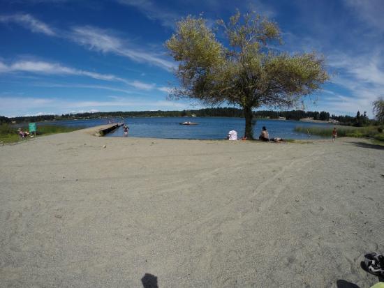 Brannen Lake RV Park and Campsite: Private beach