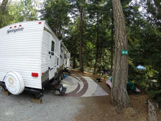 Brannen Lake RV Park and Campsite: Nicely treed, full service sites.
