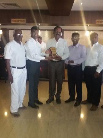 """ Hotel Shaans as Best Hospitality ""  _ Awarded by New Jerusalem Church -Mumbai"