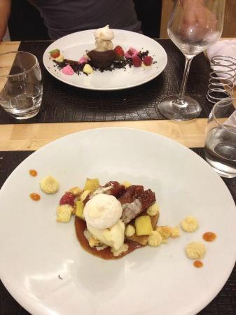 Dessert delicieux photo de restaurant le verre y table - Restaurant viroflay le verre y table ...