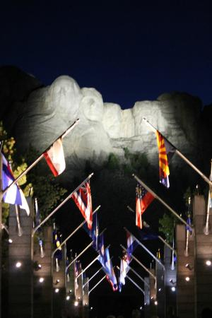 Mount Rushmore National Memorial after the lighting ceremony.   & after the lighting ceremony - Picture of Mount Rushmore National ... azcodes.com