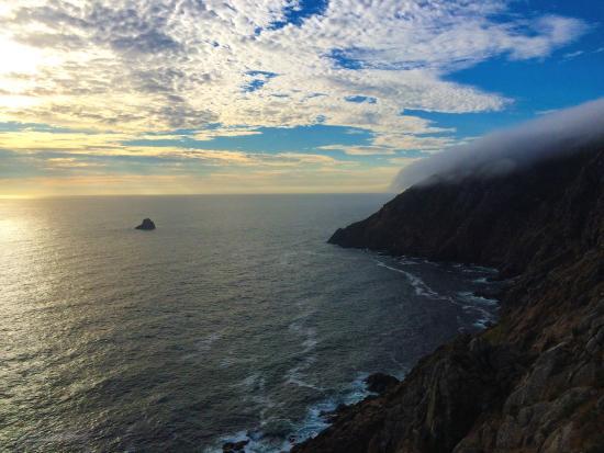Cape Finisterre, Spanien: Tramonto al faro di Finisterre