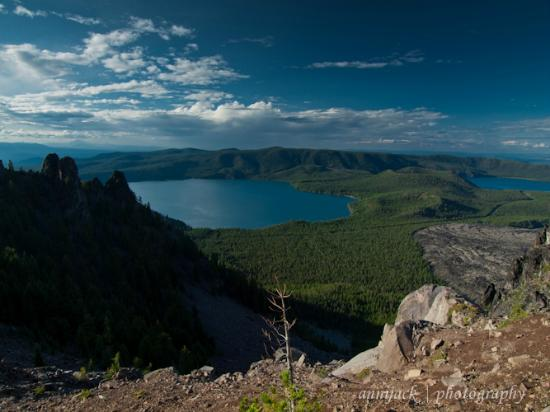 Cinder Hill Forest Camp: From Paulina Peak